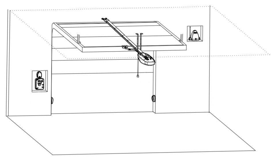 Пример установки привода SEA Corona для гаражных ворот